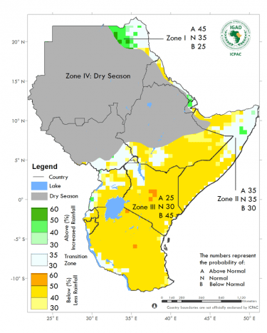 Dry and warm season expected across Eastern Africa (October – December 2020)